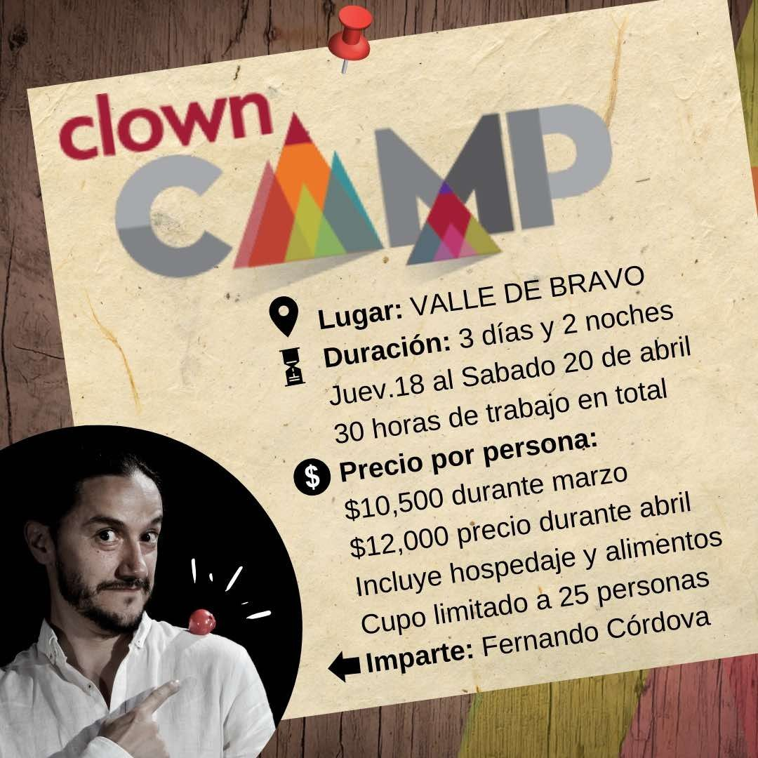 Clown camp 18,19 y 20 de abril 2019